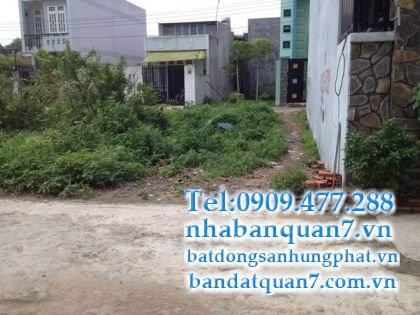 bán đất mặt tiền đường số Tân Quy quận 7
