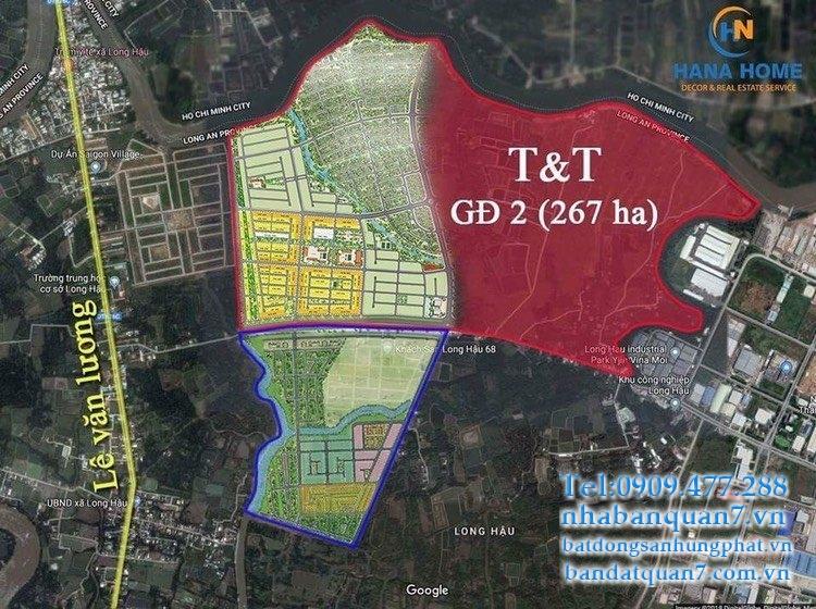 """Đất nền dự án T&T Thái Sơn Long Hậu hội đủ các yếu tố đắc địa của một dự án đầy tiềm năng:""""Nhất cận thị, Nhị cận giang, Tam cận lộ, Tứ cận đô"""""""