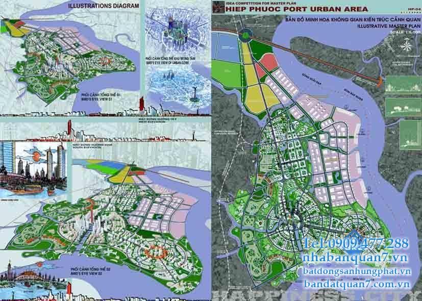Bản đồ quy hoạch xã Hiệp Phước huyện Nhà Bè