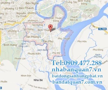 Bản đồ quy hoạch phường Bình Thuận quận 7