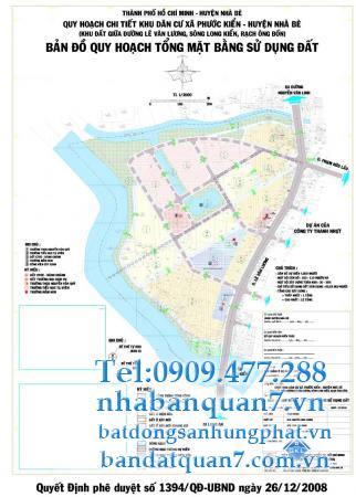 Bản đồ quy hoạch xã Phước Kiển huyện Nhà Bè