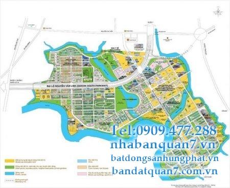 Bản đồ quy hoạch chi tiết quận 7