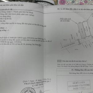 Đất bán kiều đàm quận 7, dt 4.2x20m, giá 120 triệu/m2, 0909477288