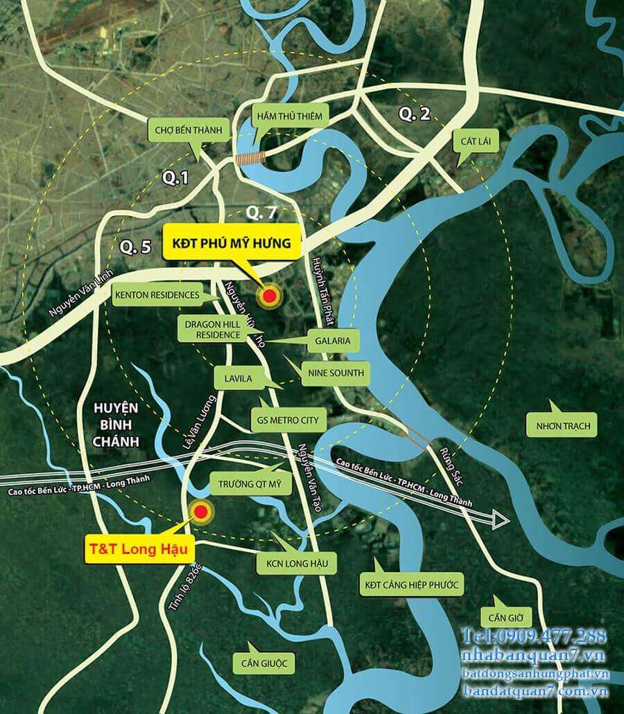 Đất nền dự án T&T THái Sơn Long Hậu