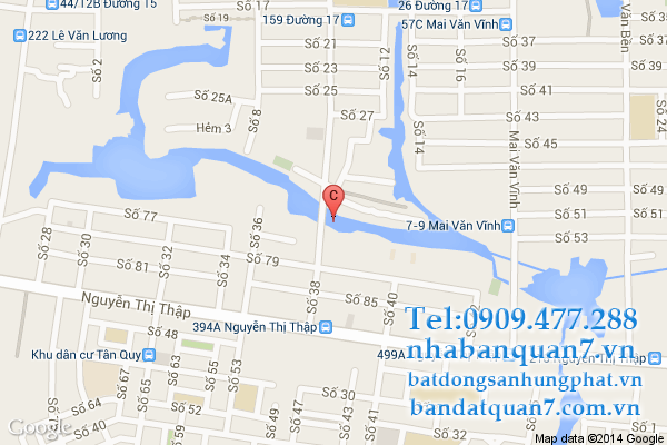 Bản đồ quy hoạch hoạch phường Tân Quy quận 7