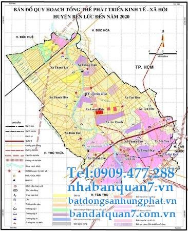 Bản đồ quy hoạch huyện Bến Lức năm 2018