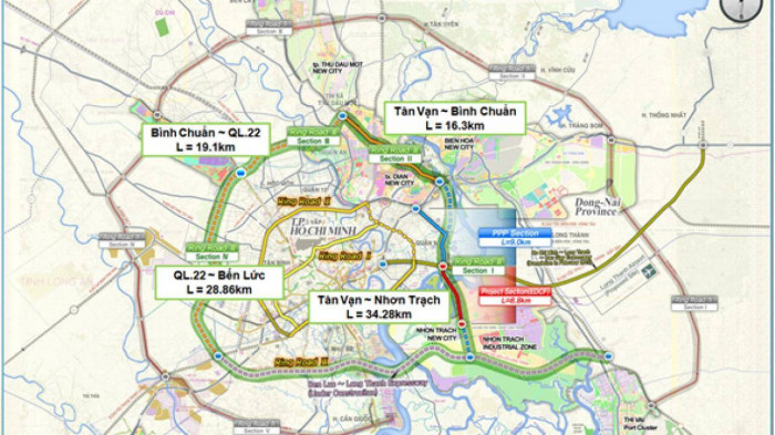 Đường vành đai 3 TP.HCM đoạn Tân Vạn – Nhơn Trạch được Hàn Quốc thiết kế