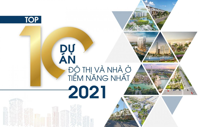 TOP 10 DỰ ÁN ĐÔ THỊ VÀ NHÀ Ở TIỀM NĂNG 2021