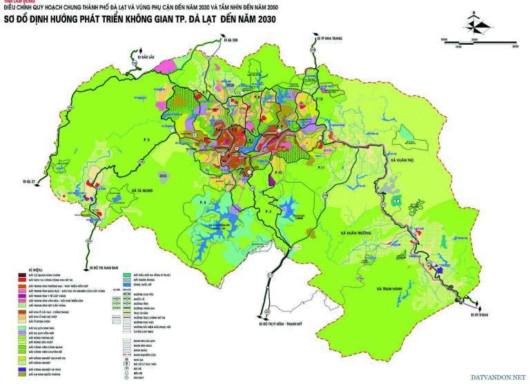 Bản đồ quy hoạch Đà Lạt Lâm Đồng
