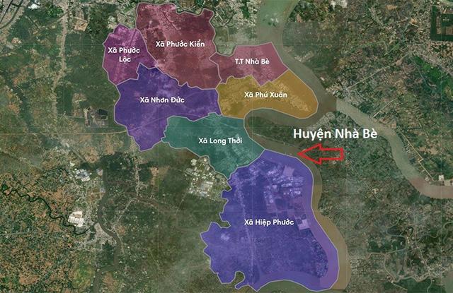 Giá nhà đất huyện Nhà Bè không ngừng tăng