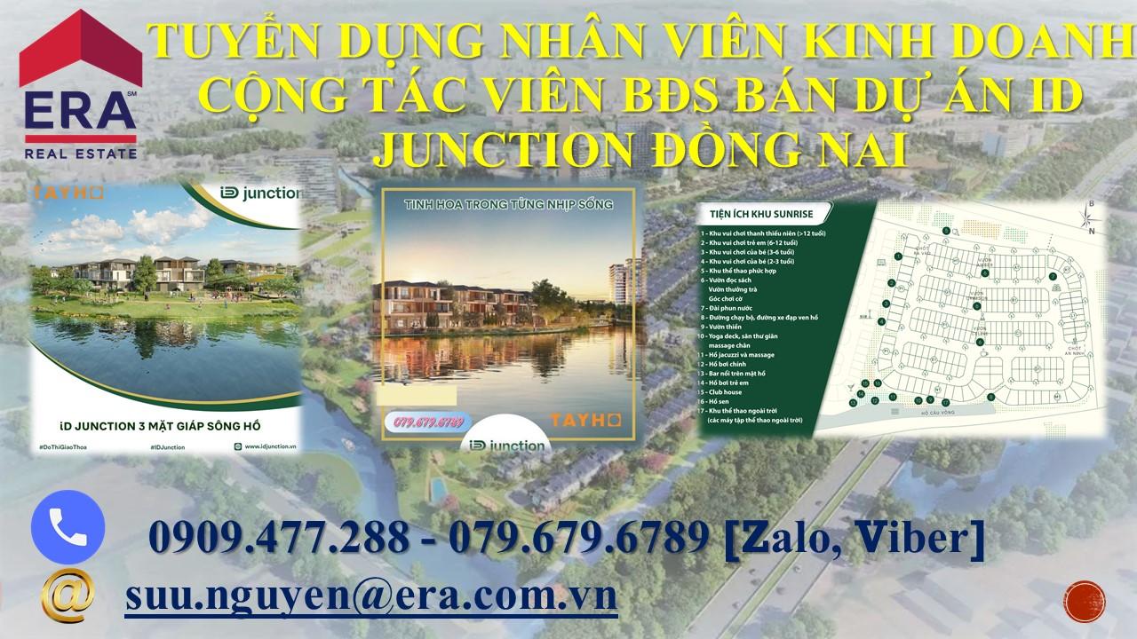 Tuyển dụng nhân viên kinh doanh cộng tác viên BĐS bán dự án ID Junction Đồng Nai