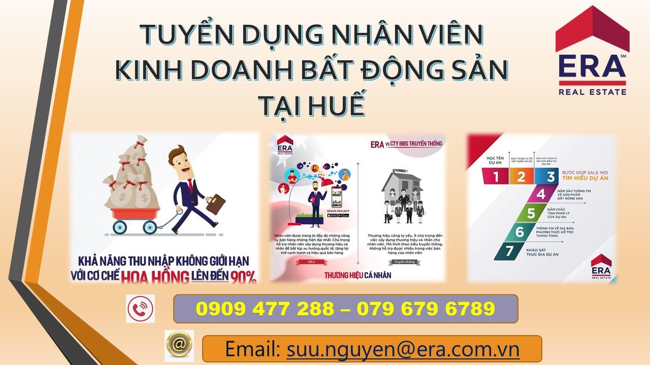 Tuyển dụng nhân viên kinh doanh bất động sản tại Huế