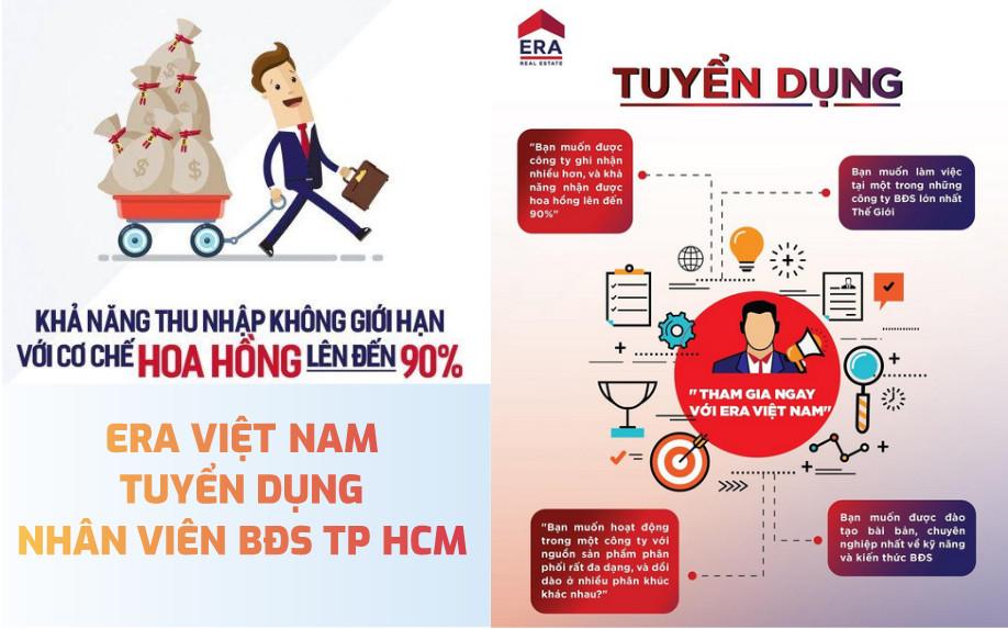 ERA Việt Nam tuyển dụng nhân viên BĐS TP HCM