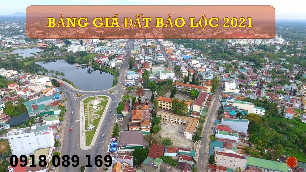 Bảng giá đất Bảo Lộc 2021