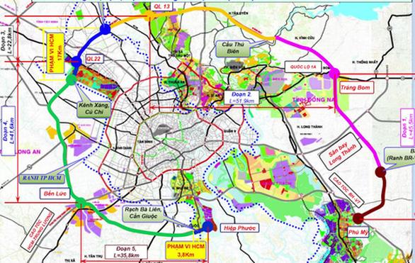 Thủ tướng đồng ý 5 tỉnh, thành chủ trì làm đường vành đai 4 TP HCM