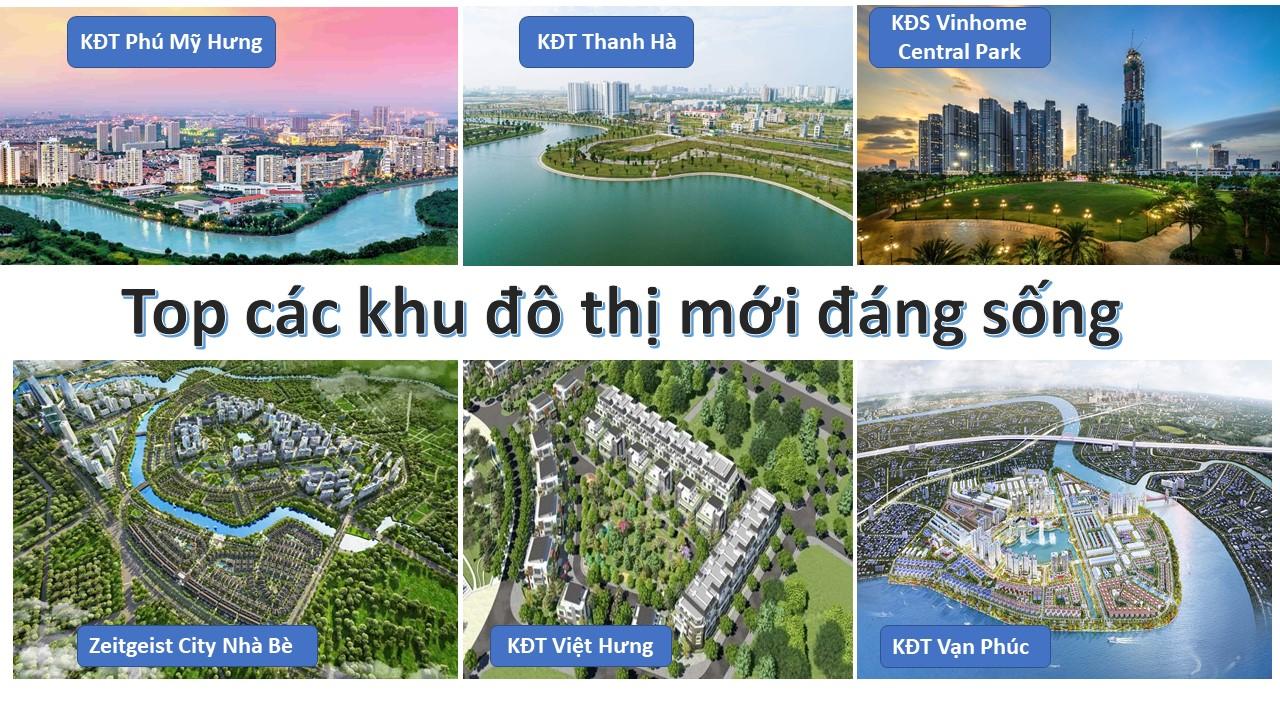 Top các khu đô thị mới đáng sống tại Việt Nam